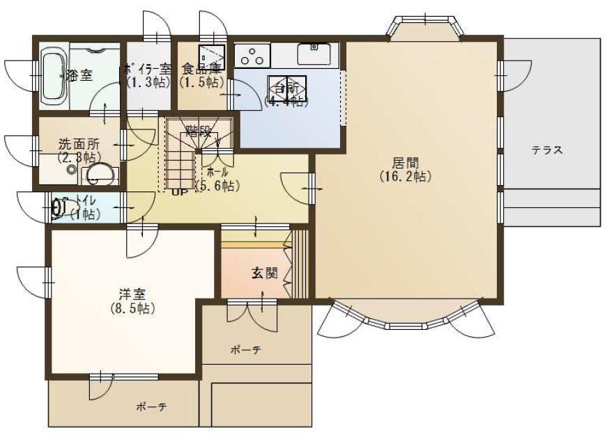 音更町雄飛ヶ丘仲区1-201_1階平面図