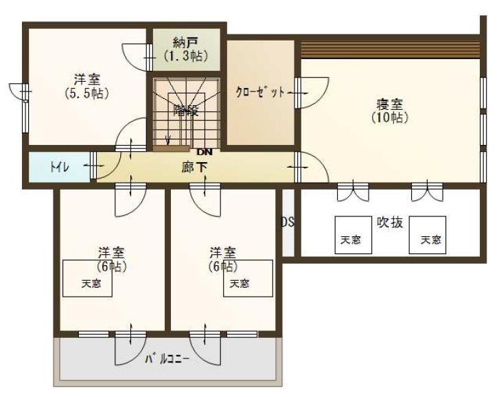 音更町雄飛ヶ丘仲区1-201_2階平面図