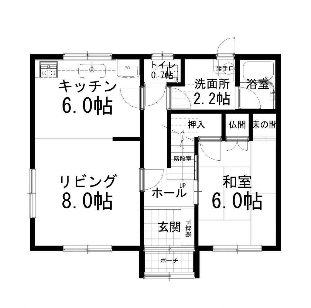 芽室町西六条9丁目1番22中古住宅1階平面図