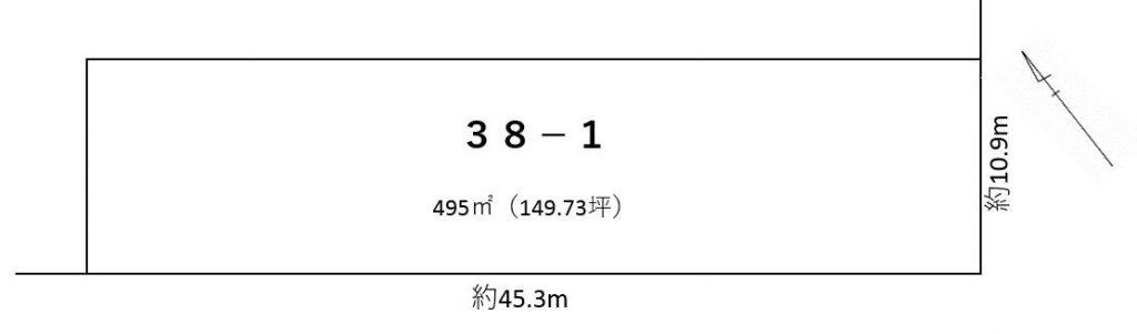 浦幌町字吉野38番1敷地図