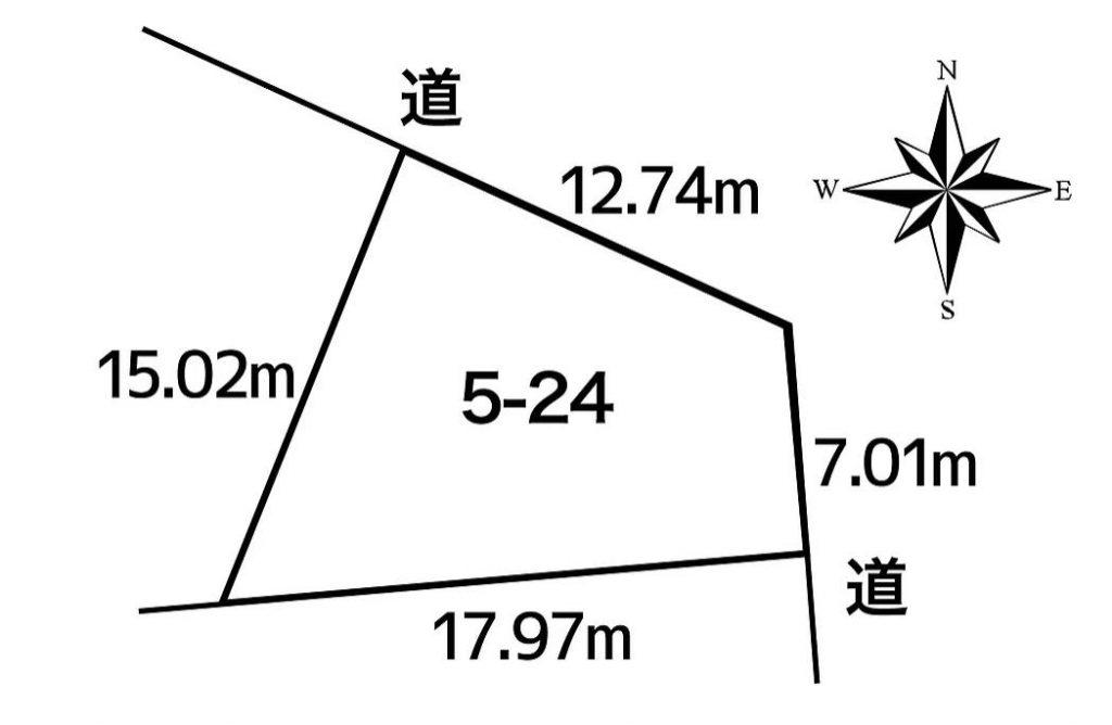 中川郡池田町字利別本町5-24敷地図