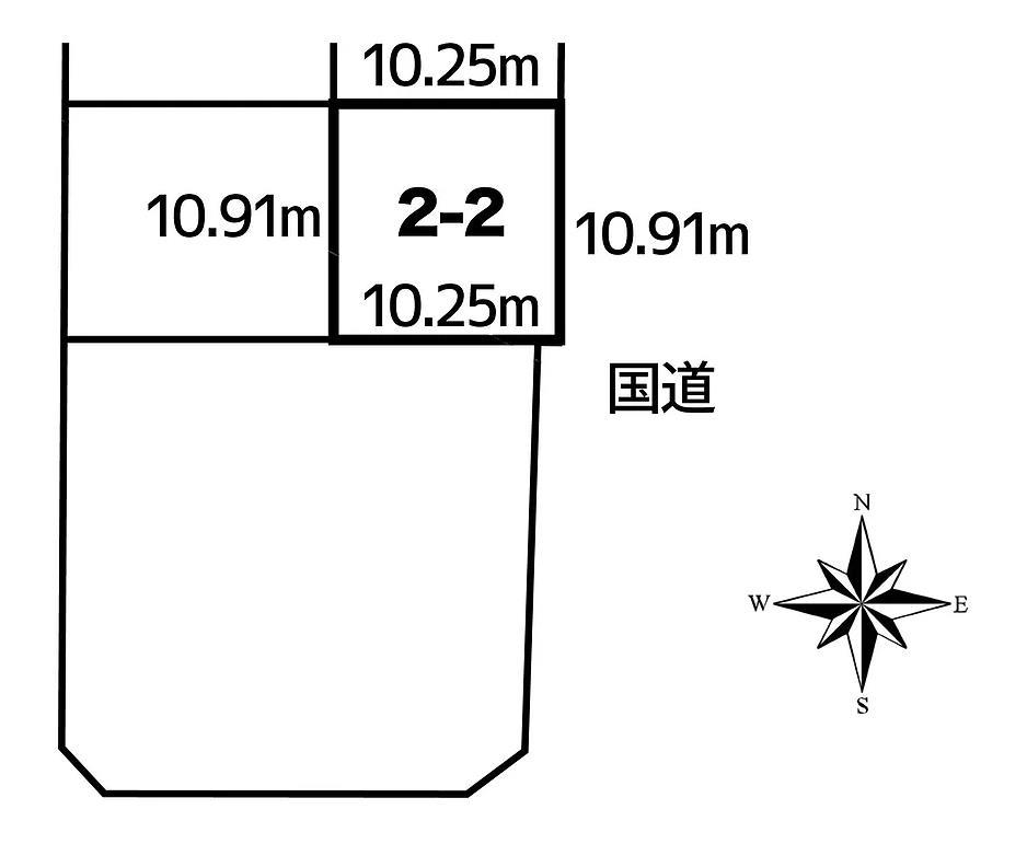 中川郡池田町字利別西町2-2敷地図
