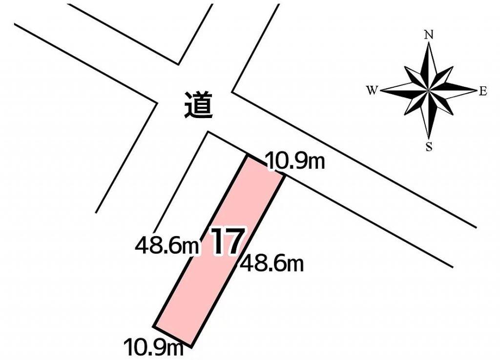 大樹町南通2丁目17番敷地図