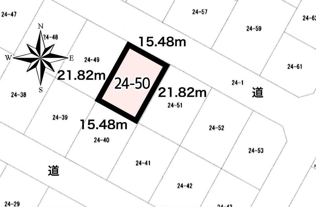 広尾郡大樹町幸町24-50敷地図