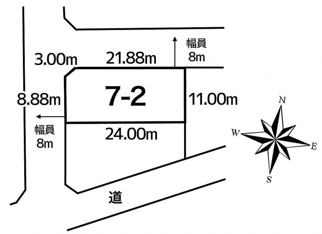 池田町字旭町2丁目7番2敷地図