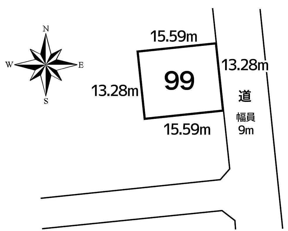 池田町字西1条8丁目99敷地図