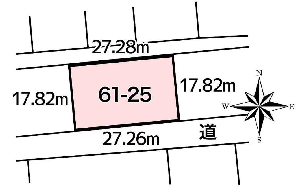 池田町字高島61-25敷地図