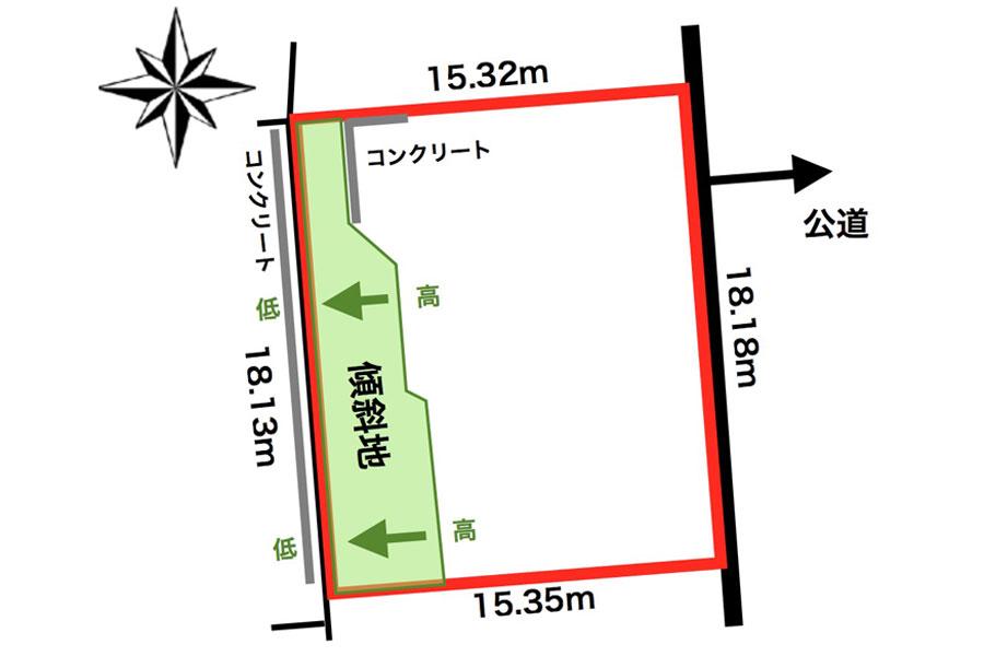 音更町共栄台西11丁目敷地図