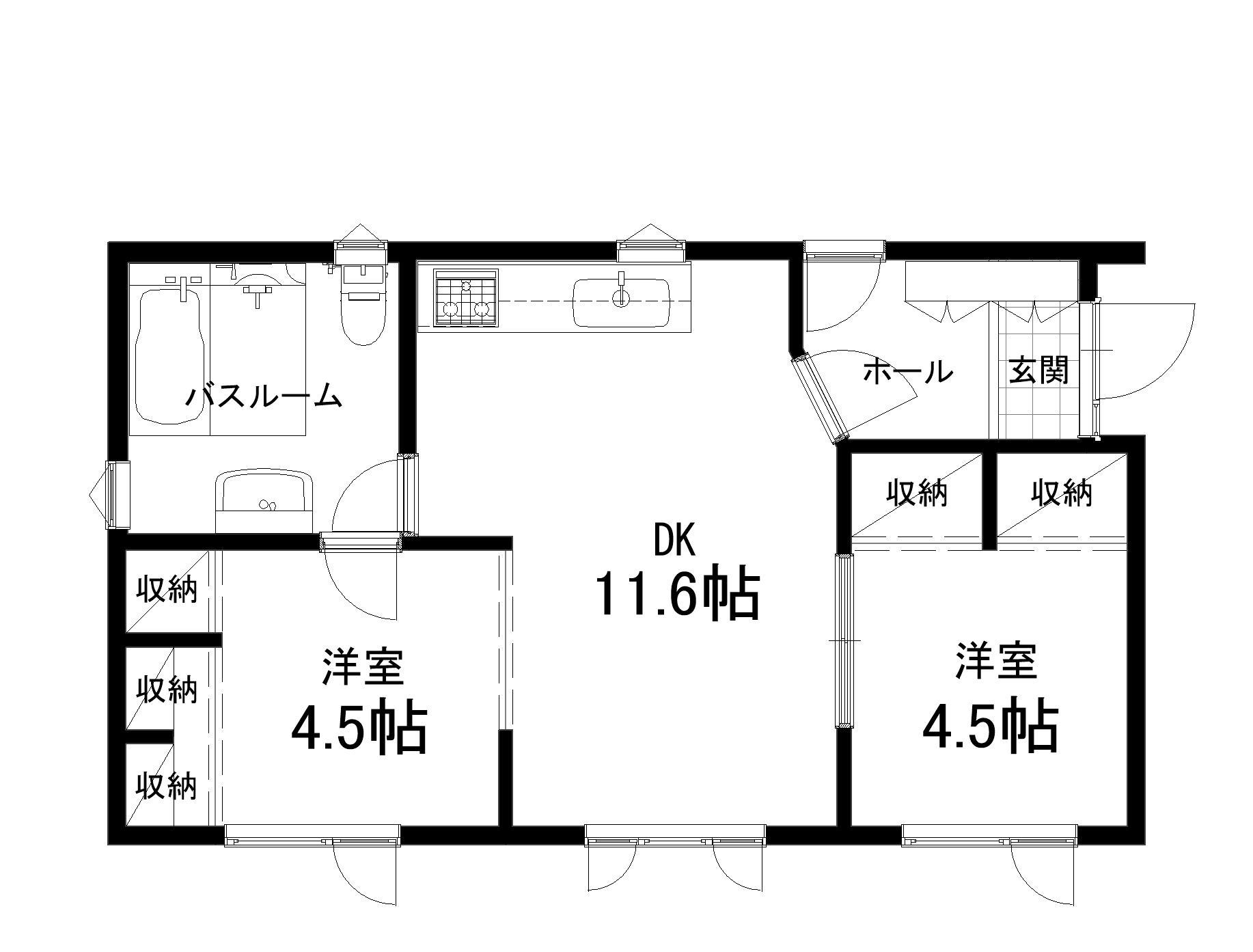 札内桜町平屋平面図