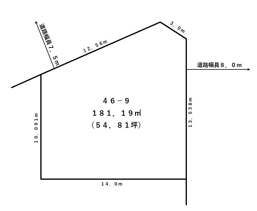 幕別町札内桜町46番9敷地図
