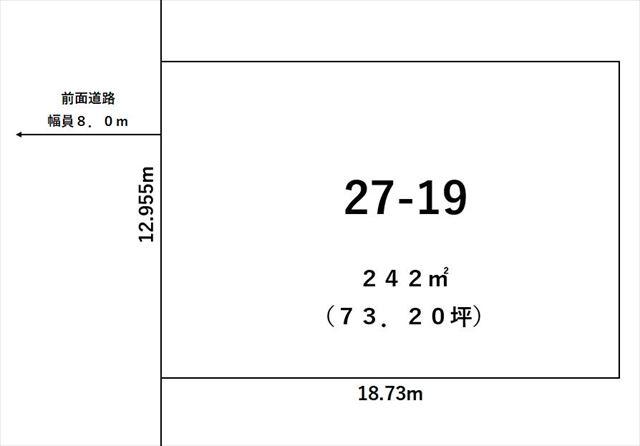 木野西通19丁目27-19敷地図