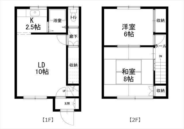 コーポ内柴D号室平面図