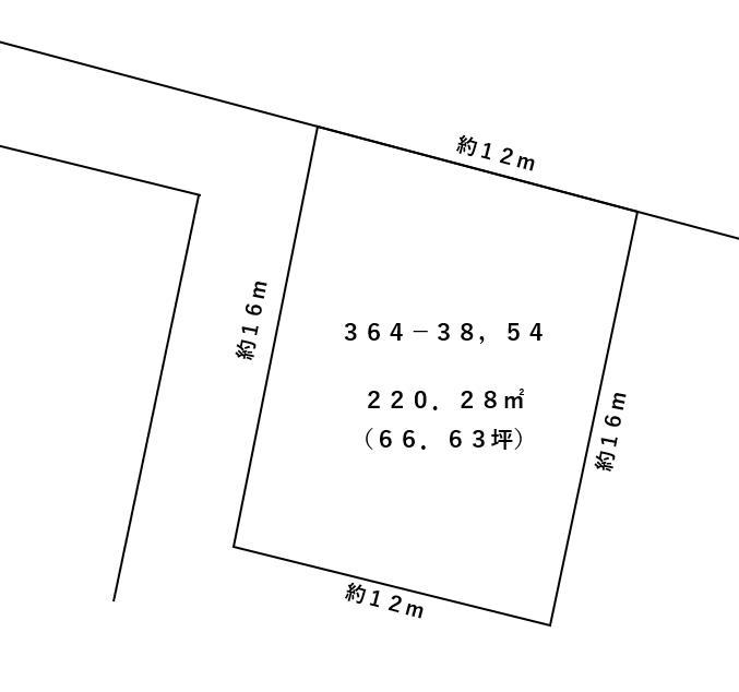 室蘭市本輪西2丁目364敷地図