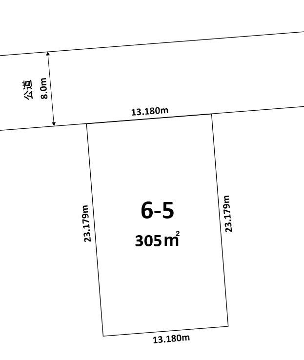 音更町木野西通16丁目6-5敷地図
