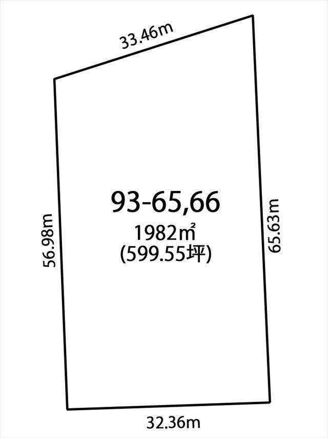 上士幌町字上士幌93-65,66_敷地図