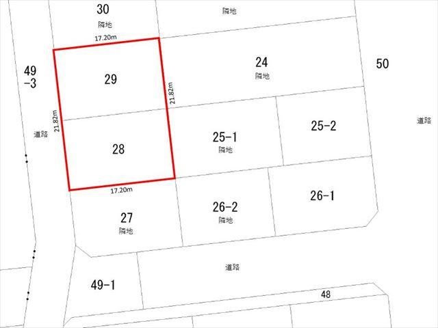【敷地図】池田町字西2条6丁目24他西側