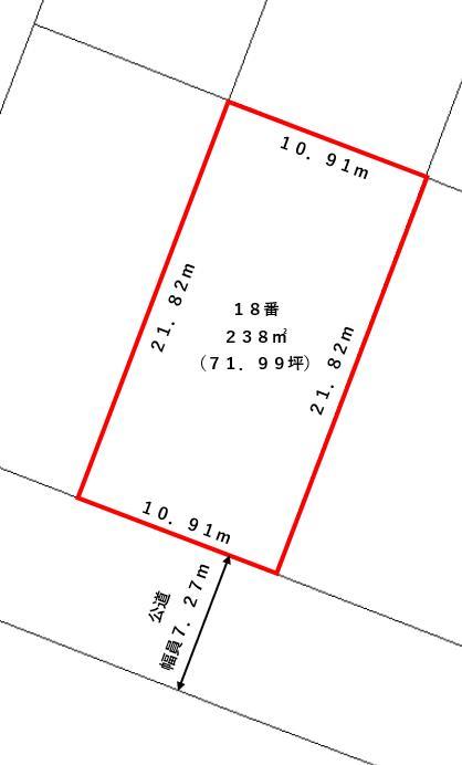 広尾町丸山通北5丁目18番_敷地図