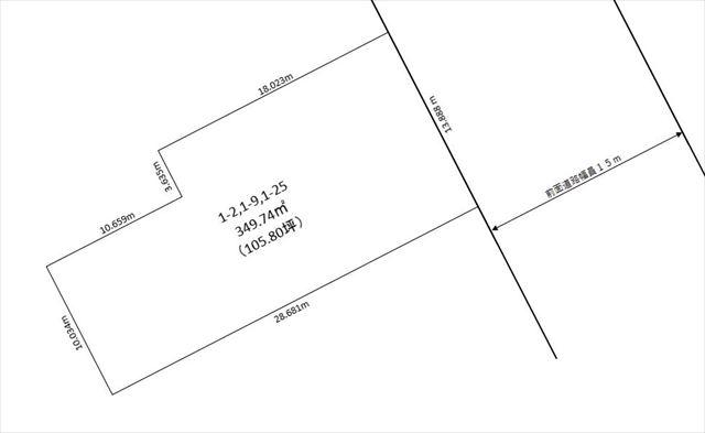 釧路市富士見1丁目1ー2他_敷地図
