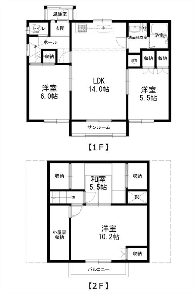 音更町北陽台6-6_平面図