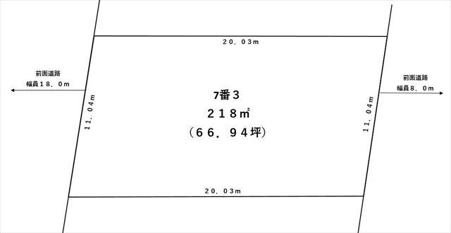 【敷地図】音更町木野大通西18丁目7-3