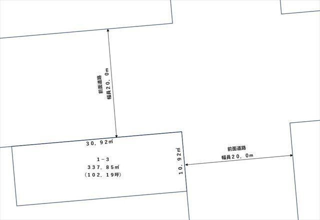 【敷地図】帯広市東1条南3丁目1-3