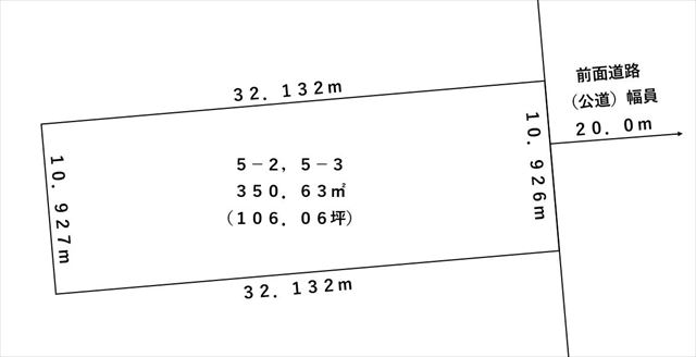 【敷地図】帯広市東1条南3丁目5-2,3