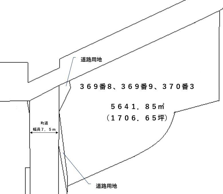 【敷地図】幕別町字大豊369