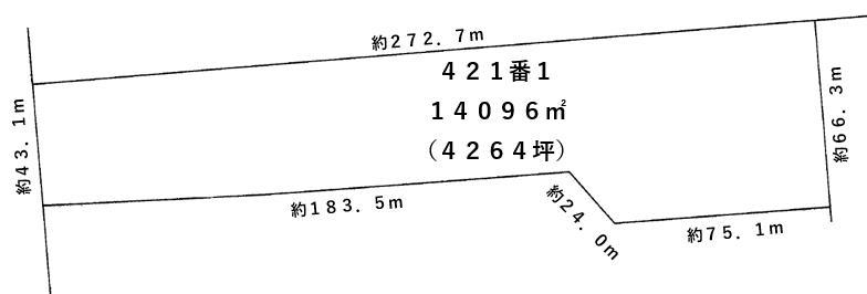 【敷地図】幕別町字大豊421-1