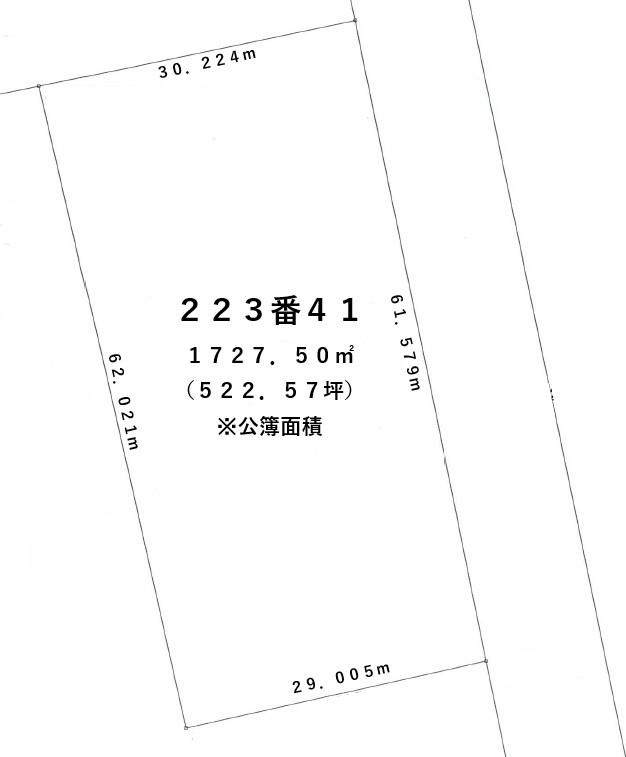 【敷地図】清水町人舞223-41