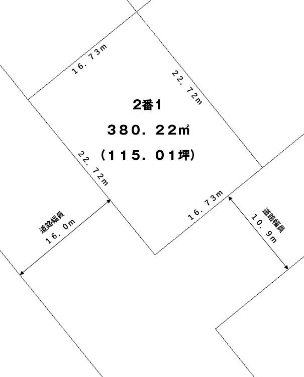 【敷地図】清水町本通西5丁目2-1