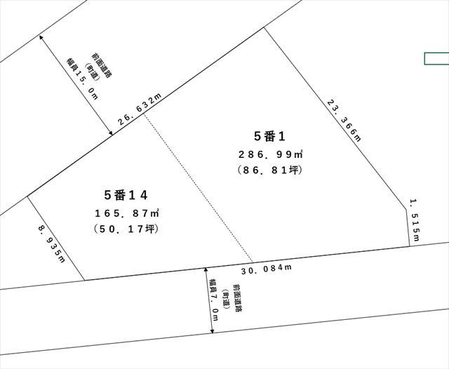 【敷地図】池田町字旭町1丁目5-1
