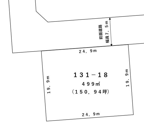 【敷地図】池田町清見131-18