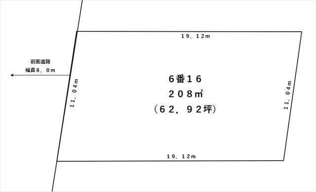 【敷地図】音更町木野大通西18丁目6-16