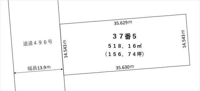 【敷地図】池田町字高島37-5