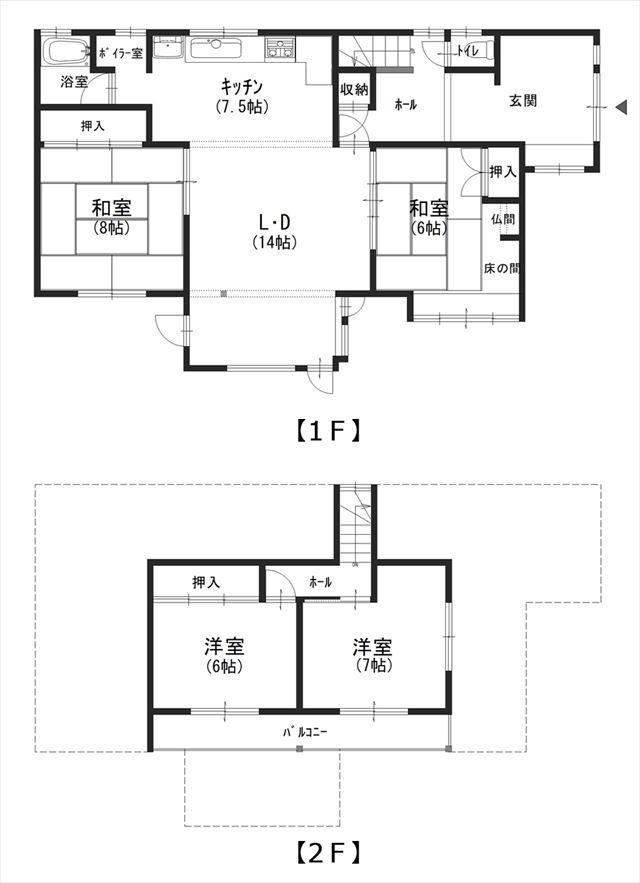 【平面図】池田町字旭町4丁目2-25