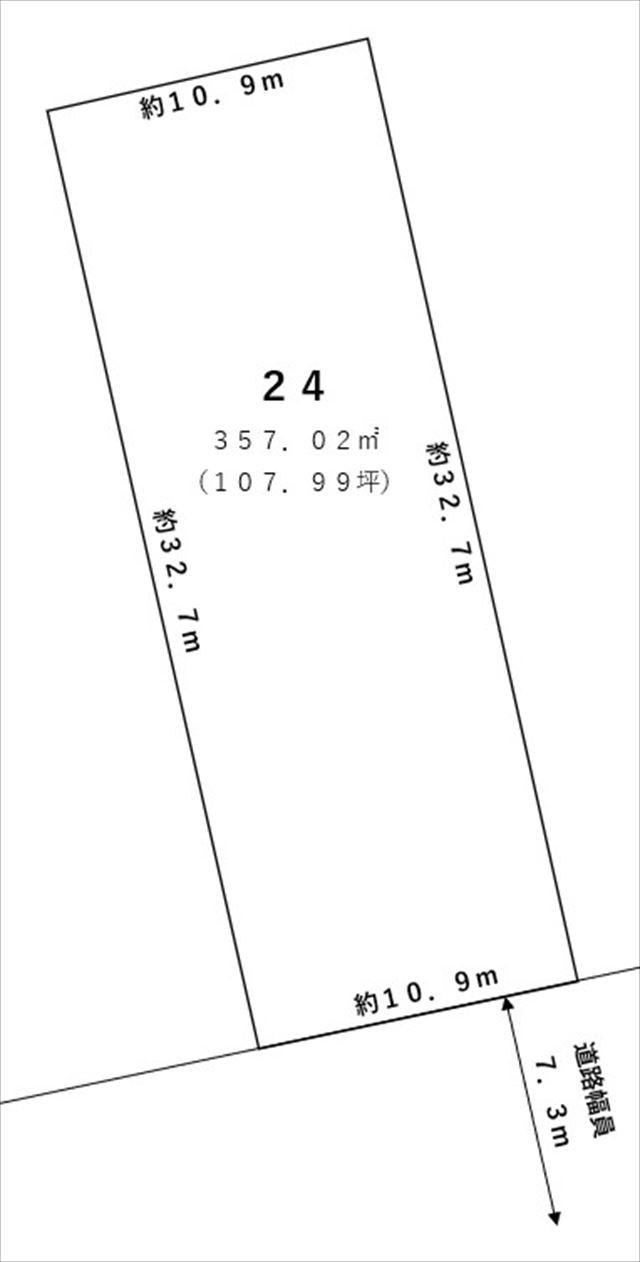 【敷地図】新得町屈足柏町4丁目24