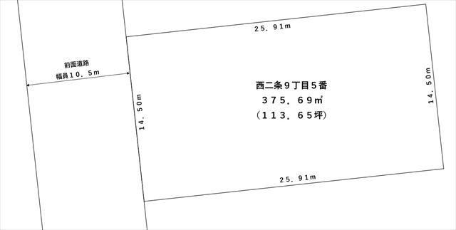 【敷地図】池田町字西2条9丁目5番